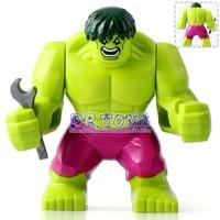 DR TONG 20pcs Lot Marvel Avengers Hulk Super Heroes Action Figures 7Cm High Figures Hulk Building