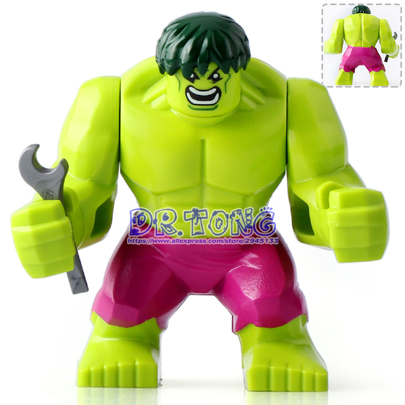 DR.TONG 20pcs/lot Marvel Avengers Hulk Super Heroes Action Figures 7Cm High Figures Hulk Building Blocks Toys Children Gifts high quality hulk figures the avengers super hero pvc model hulk action figures children kids best gift