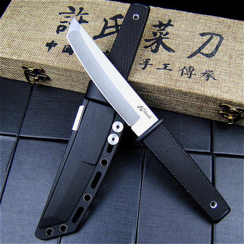 Охотничий нож с фиксированным лезвием EVERRICH из холодной стали 440, длинный Кратон из нержавеющей стали с пластиковой ручкой, уличный тактический нож, оболочка из АБС-пластика