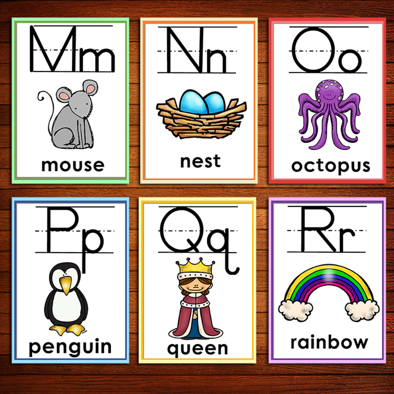 26 alfabeto ingles aprendizagem cartao flash com 01