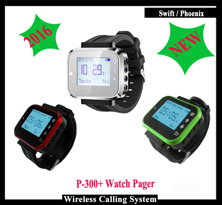Waiter Pager Watch For Restaurant Wireless Calling System wireless service call bell system popular in restaurant ce passed 433 92mhz full equipment watch pager 1 watch 7 call button
