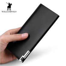 Business Genuine Leather Wallet Long Purse Business Vintage Card Holder Male Wallets Cowhide Leather Purses Clutch Bags 2017 New