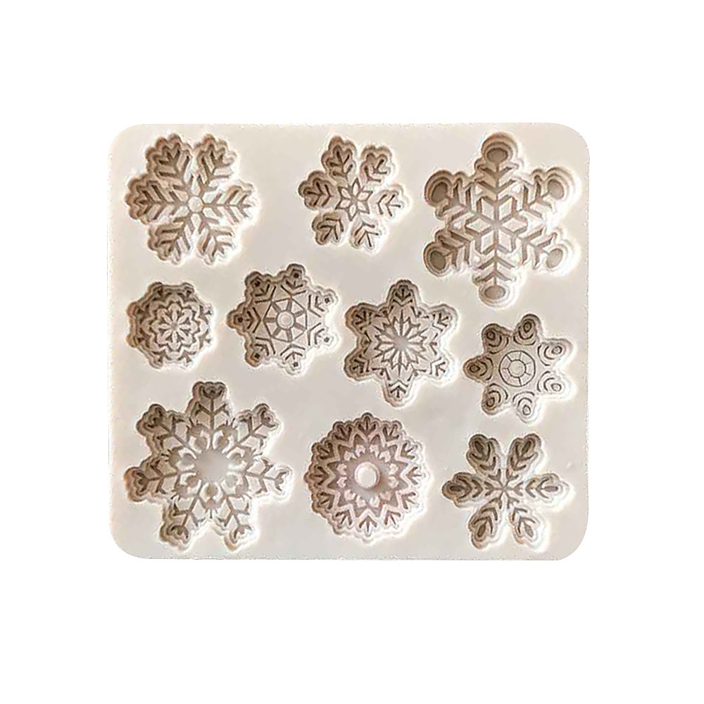 Cake Mold   Forms  DIY Silicone Baking Cake Molds Christmas Xmas Snowflake Shape Cake Tools 18NOV23