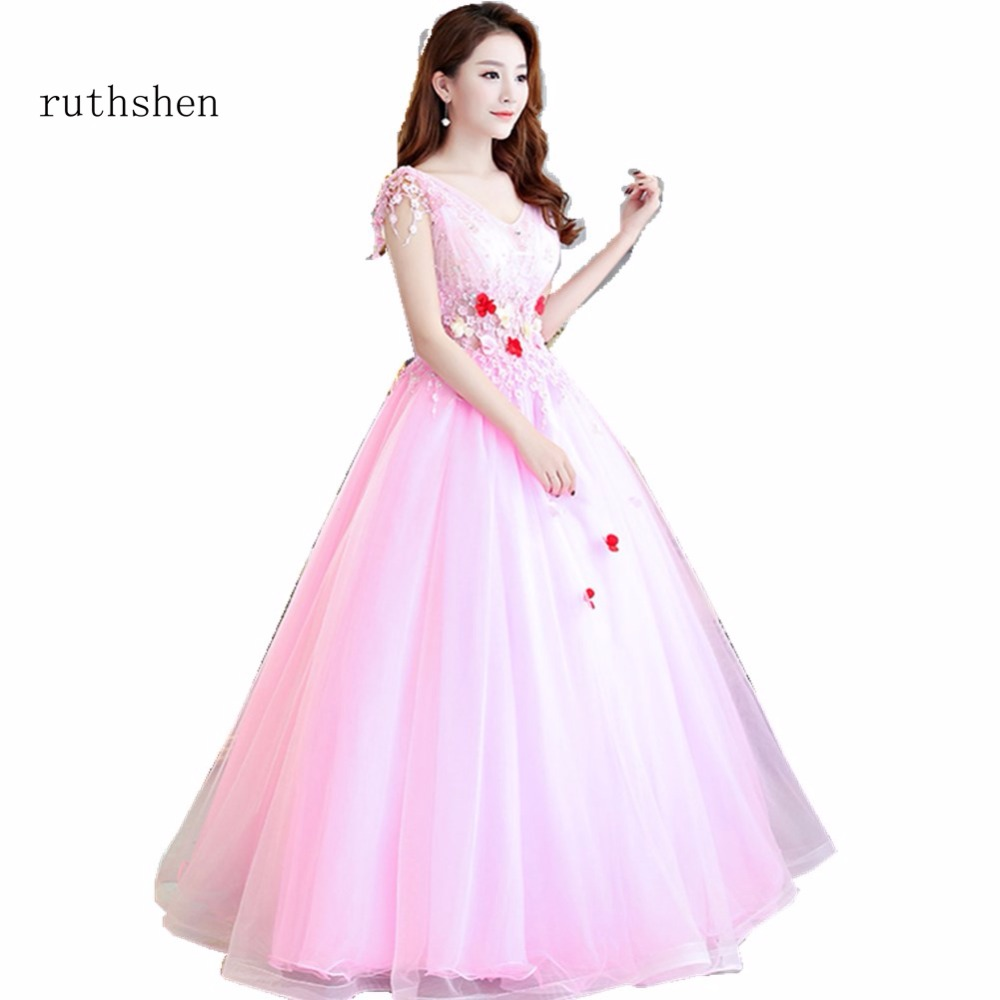 ruthshen Vestidos Elegantes Cortos De Fiesta Prom Gowns Pink with ...