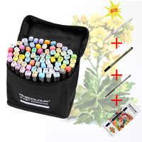 Finecolour EF102 двухголовые мягкие маркеры кистей 480 цветов Профессиональные манга премьер Эскиз Арт Маркеры Ручка для рисования