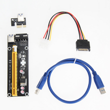 50 см USB 3.0 PCI-E Экспресс Extender Riser Card Адаптер SATA 15-4Pin Силовой Кабель Совместим с 1х До 16х PCI-E слот материнская плата