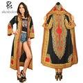 Женщины Африки напечатаны толстовки куртки мода стиль леди dashiki ветер пальто женщин традиционный батик prining хлопка пальто