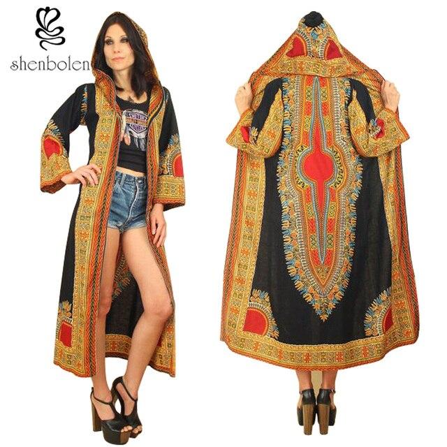 Women Africa printed hoodies jacket fashion style lady dashiki wind coat women traditional batik prining cotton coats