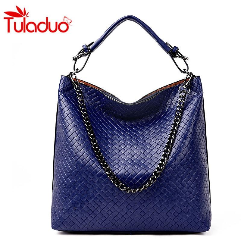 2017 PU Bucket Bag For Women Shoulder Bags Femme Shoulder Bag Large Luxury Brand Chain Ladies Handbag Sac A Main Diamond Lattice