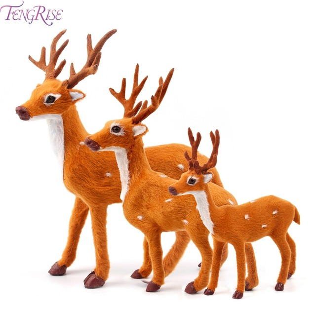 fengrise plush christmas reindeer xmas elk plush simulation new year gift christmas decorations for home 15cm