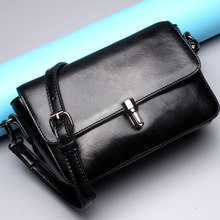 Ms. Korean version of the new leather buckle small square package shoulder crossed bag
