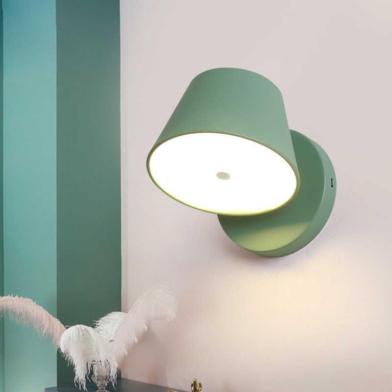 Лампа для кухни в скандинавском стиле, настенный светильник для фойе, светодиодный светильник wandlamp, вращающийся светильник для спальни