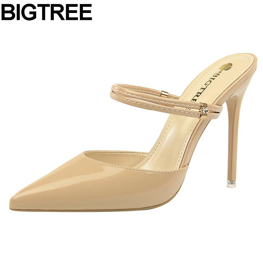 3f582405f3 BIGTREE 3 Way Wear Women Fashion High Heels Pointy Toe Mule Slides  Stilettos Slingback Pumps Dress