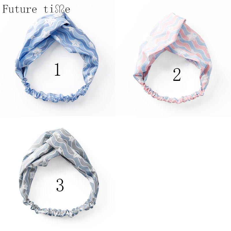 Future Time Cross Hairband 2018 New Style Traveling Holiday Headwear 3 Colors Vintage Turban Elastic Head bands For Party FD018