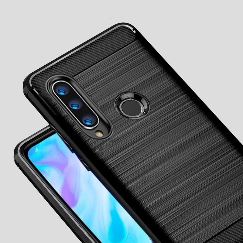 For Huawei P30 Lite Case Carbon fiber Cover Shockproof Phone Case On For Huawei P 30 Lite P30 Pro Cover Full Protection Bumper