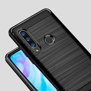 Image 3 - Voor Huawei P30 Lite Case Carbon Fiber Cover Shockproof Phone Case Voor Huawei P40 Lite E/P 30 Pro cover Duurzaam Flex Bumper Huis