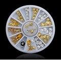 Shell Estrela Do Mar Mar Projeto Ouro Prata Liga de Metal Charme Da Decoração de Natal Da Arte Do Prego 3D Studs de Spike Jóias Manicure Ferramenta