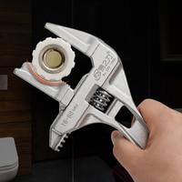 Einstellbar Wrench Aluminium Legierung große Offene Ende Wrench Universal Spanner Reparatur Werkzeug für Wasser Rohr Schraube Bad-in Schraubenschlüssel aus Werkzeug bei