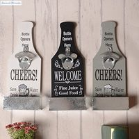 Creative American Country Wall Bottle Opener Vintage Retro Beer Shaped Wall Mounted Bottle Openers Cap Catcher