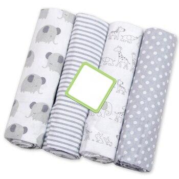 4 pçs/lote Crianças Cobertor Do Bebê Musselina Swaddle Flanela 100% Algodão Fraldas Fraldas Para Recém-nascidos Fotografia Criança Cobertores Recém-nascidos Envoltório