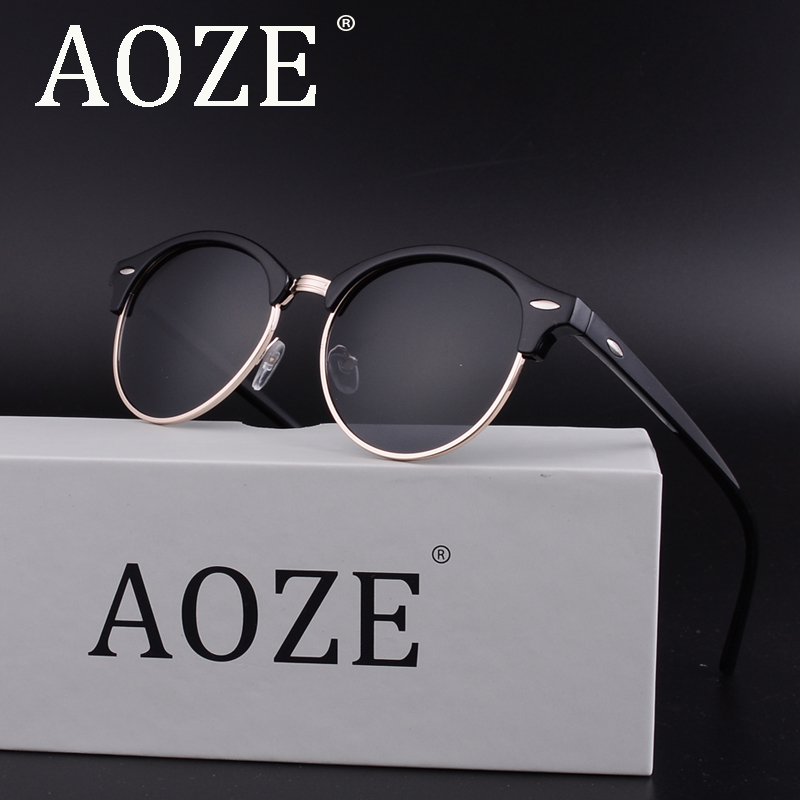 AOZE Ultra light Polarized Lens Sunglasses Men Vintage Square Sun glassesUV400 Male Driving Safety Protect Eyeglasses Lens 4246 in Men 39 s Sunglasses from Apparel Accessories