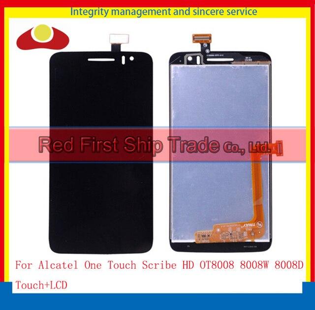"""5.0 """"для Alcatel One Touch Scribe HD OT8008 8008 Вт 8008D 8008 Полный Жк-Дисплей С Сенсорным Экраном Дигитайзер Панели Ассамблея Полный"""