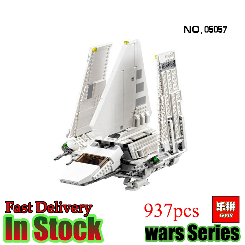 Lepin  05057 Star War Rogue One 937pcs The Imperial Shuttle Set Model Building Kit Blocks Bricks Toys Compatible Starwars 75094 lepin 22001 pirate ship imperial warships model building block briks toys gift 1717pcs compatible legoed 10210