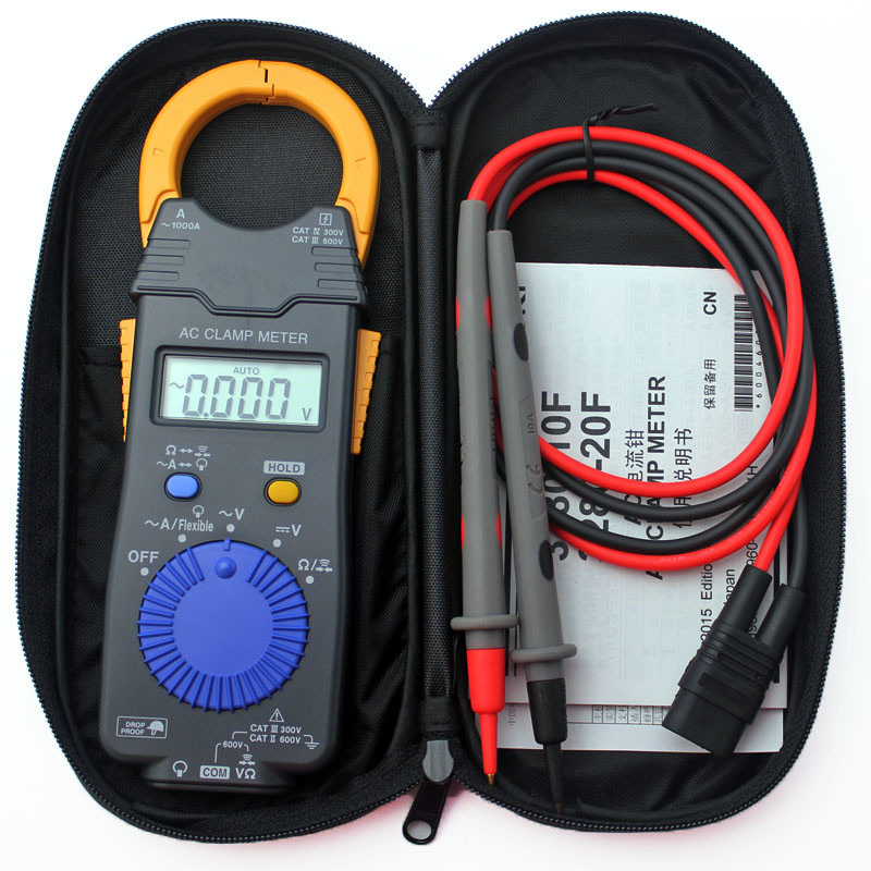 Hot Sale Professional Clamp Hitester 1000A Hitester Digital AC Tester Meter High Sensitivity True RMS digital clamp meter цена