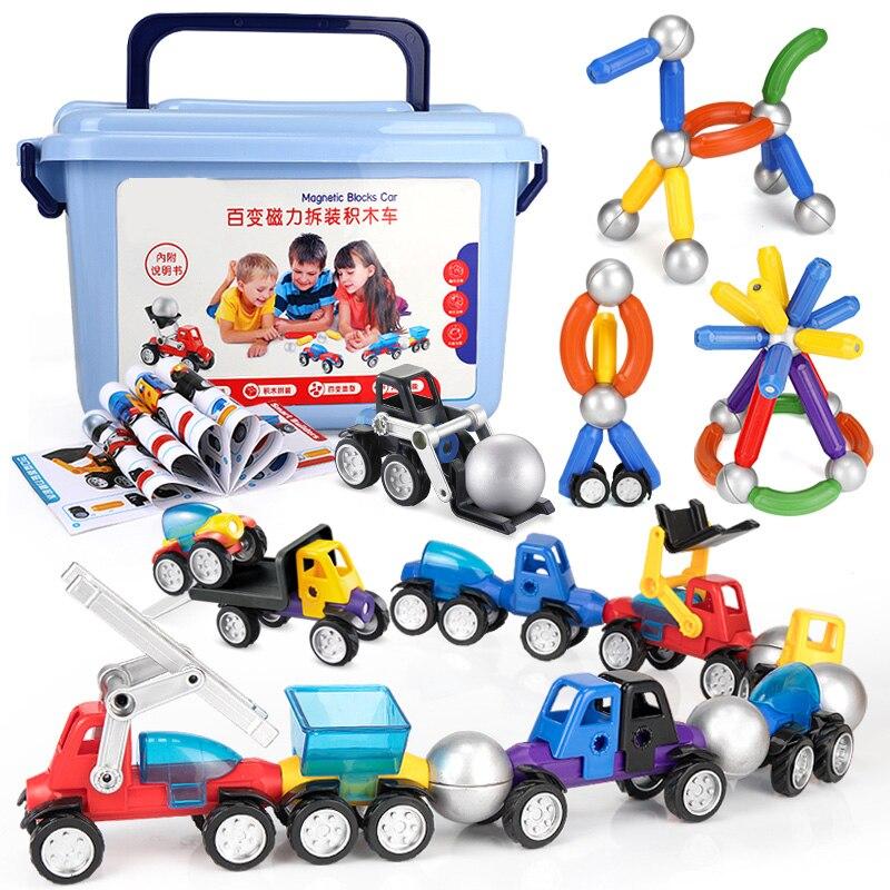 Магнитные блоки Набор для детей магнитные плитки Обучающие строительные игрушки для мальчиков и девочек с пластиковой коробкой