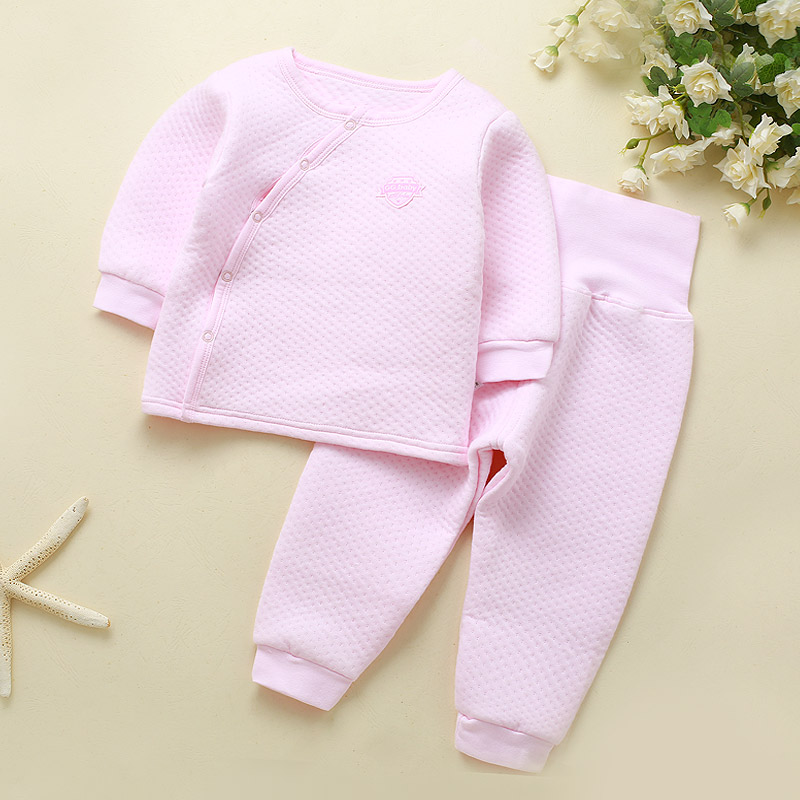 купить Winter Baby Outfits Baby Girl Clothes Set Warm Long Sleeve Boy Newborn Clothes High Waist PP Pants Sets Snow Sleepwear Pajamas онлайн