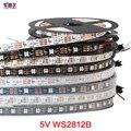 1m/5m WS2812B Smart led pixel strip,Black/White PCB,30/60/144leds/m pixel WS2811IC Independently addressable IP30/IP65/IP67 DC5V
