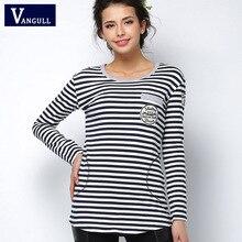 2016 tee shirt femme Spring long sleeve tshirt women t shirt womens tops fashion poleras de mujer stripe t-shirt camisetas mujer