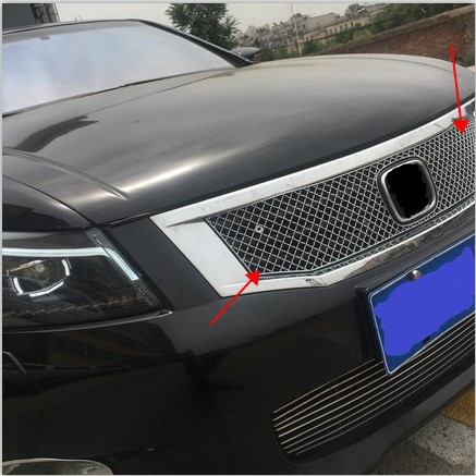 For Honda Accord 2008-2010 Stainless Steel LOW Auto Front Bumper Honeycomb Mesh Grille 26pcs stainless steel outer front bumper