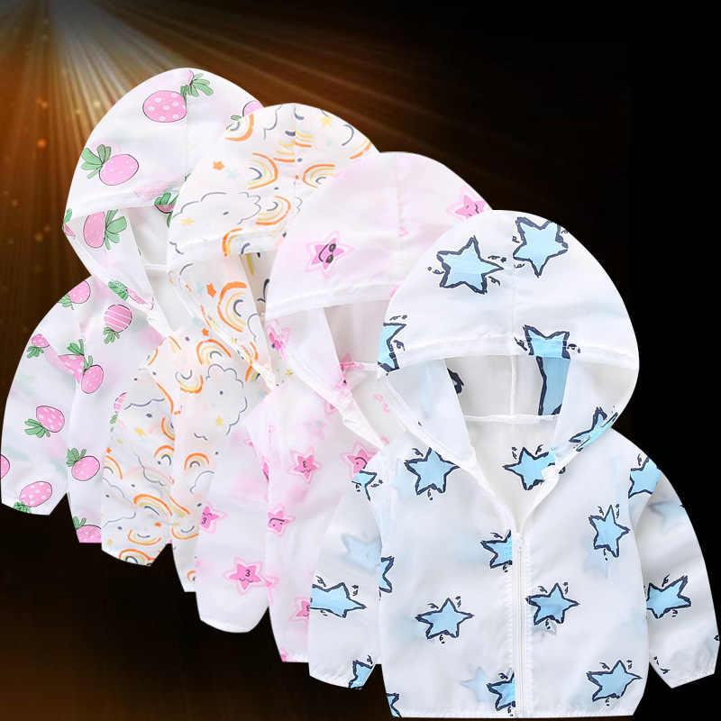 2019 קיץ חדש לילדים ללבוש תינוק ילד עור בגדי הדפסת מעיל תינוקת מעיל מיזוג אוויר