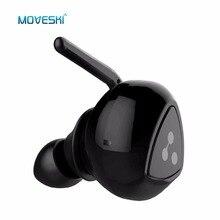 Moveski D900 Mini Invisível À Prova D' Água Sem Fio Bluetooth Fone de Ouvido Auriculares Com Cancelamento de Ruído Fones de Ouvido Micro Fone De Ouvido-Preto