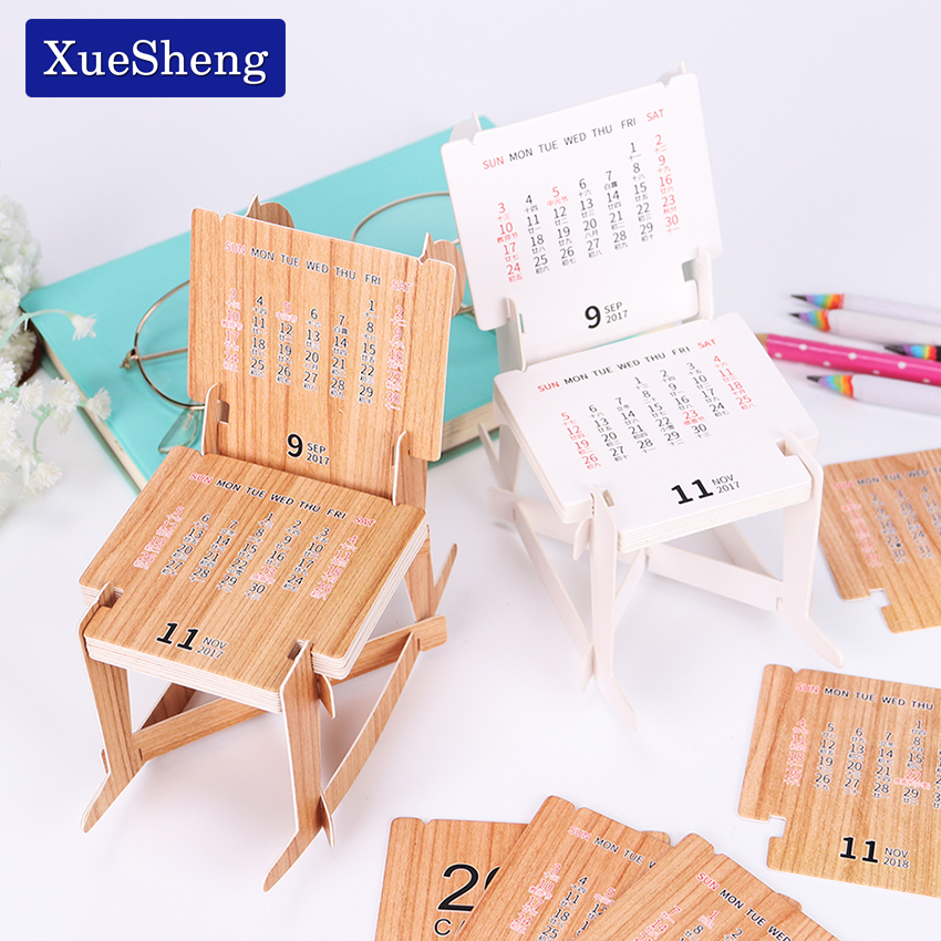 Cute Diy Wooden Horse Educational 2018 Desk Calendar Noted Book Supplies Schedule Accessory Creative Paper Notepads In From Office School