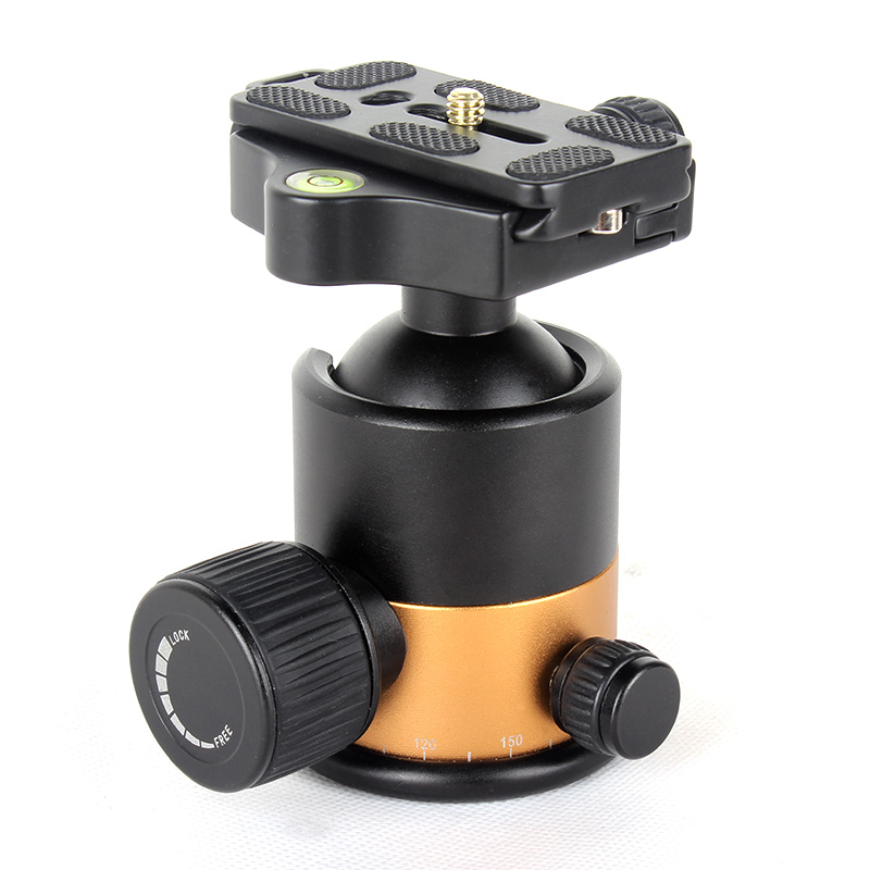 Q10 Professional Aluminum Tripod Ball Head / Ballhead With Quick Release Plate Max Load 15KG For Tripod canon nikon sony camera