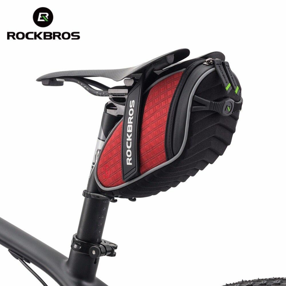 ROCKBROS Ciclismo Reggisella Posteriore Sacchetto 3D Shell Antipioggia Bisaccia Riflettente Sacchetto Della Bici Della Bicicletta Antiurto Borsa MTB Bici Accessori