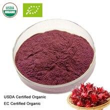USDA и EC Сертифицированные Органические Roselle extr20: 1 полифенолы