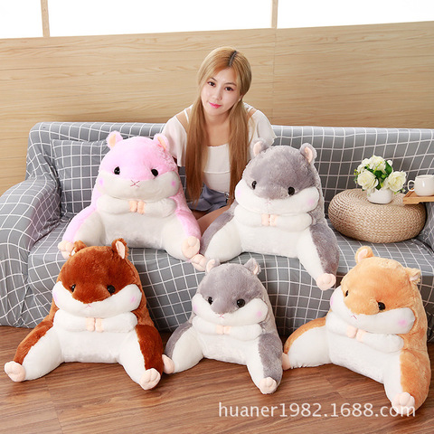hamster bonito cintura almofada cintura travesseiro cabeceira cadeira almofada boneca de brinquedo de pelucia