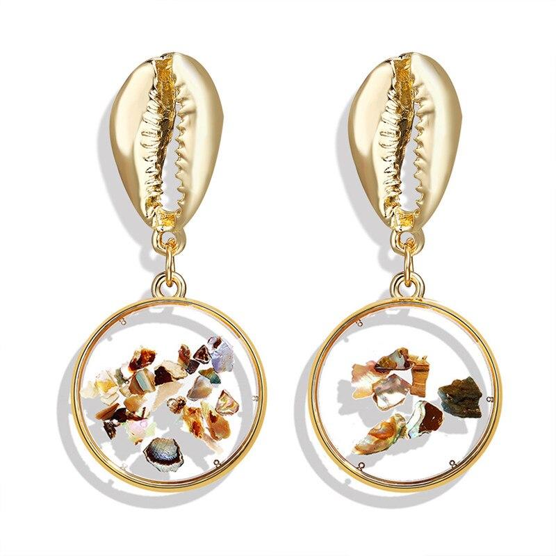 Vintage Earrings 2019 Geometric Shell Earrings For Women Girls BOHO Resin Drop Earrings Brincos Fashion Tortoise Jewelry 16