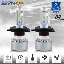 Bevinsee H4 X6 Car LED Headlights Headlight For Chevrolet Aveo5 2006 2007 2008 2009 2010 2011 Kit Super Bright Bulbs