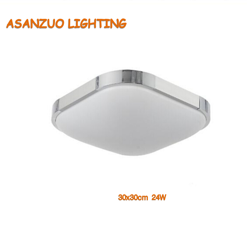 110V220V 24W 36W Silver Frame Super Thin Acrylic Modern LED Ceiling Light Indoor Lighting Lamps Bright