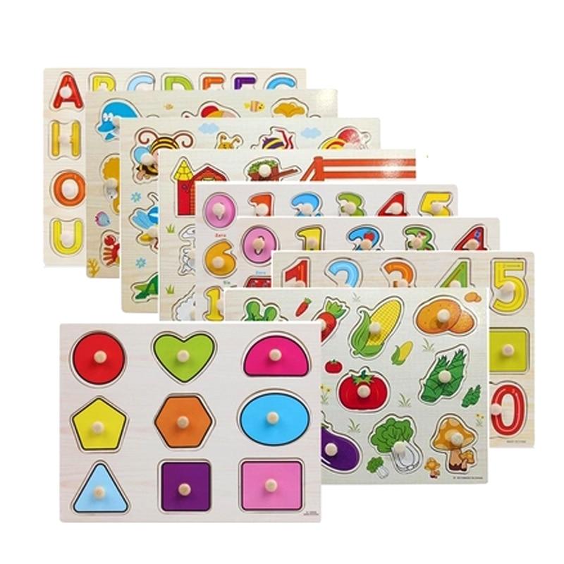 Alphabet Educational Toys : Cm kid early educational toys baby hand grasp wooden