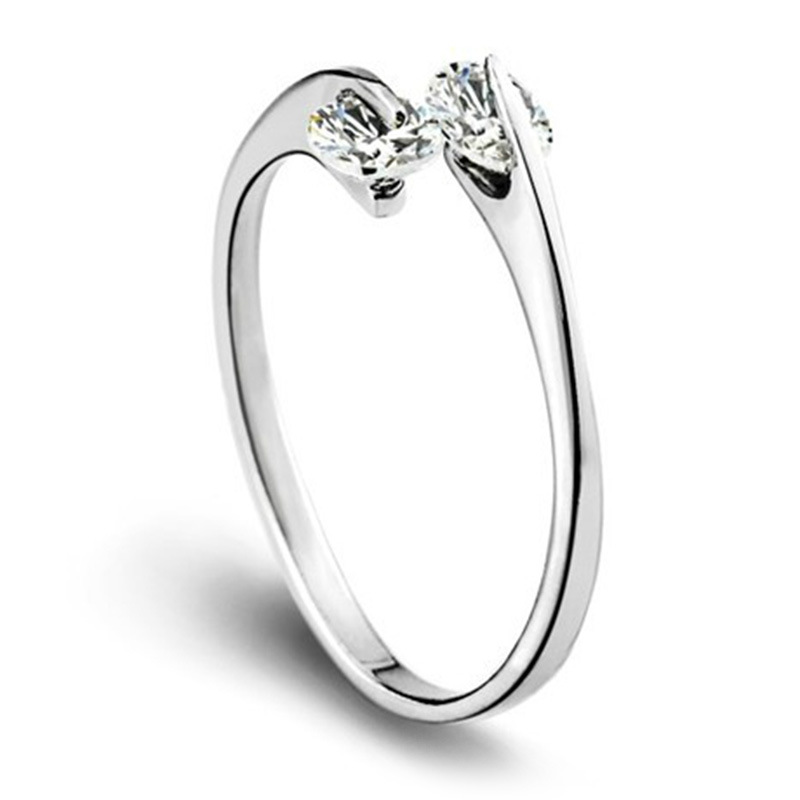Simple Silver Wedding Rings For Women JS Design Women Simple...