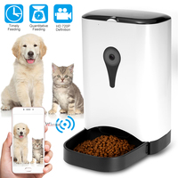 Automatic Pet Feeder Dispenser Feed Food For Dog Cat Wifi Recording With 720P WiFi Camera Phone Wireless Control Feeder Easy Set