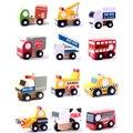 X004 12 шт. новый деревянный автомобиль модель toys educational toys for дети автомобиль такси молочных продуктов кран автобус стоит на двух полы