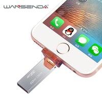 OTG USB Flash Drive 8 gb 16 gb 32 gb Mini Metalen Pen drive voor iphone 7/7 plus/6/6 plus/5 s/5c/5/ipad usb 2.0 pendrive flash Disk