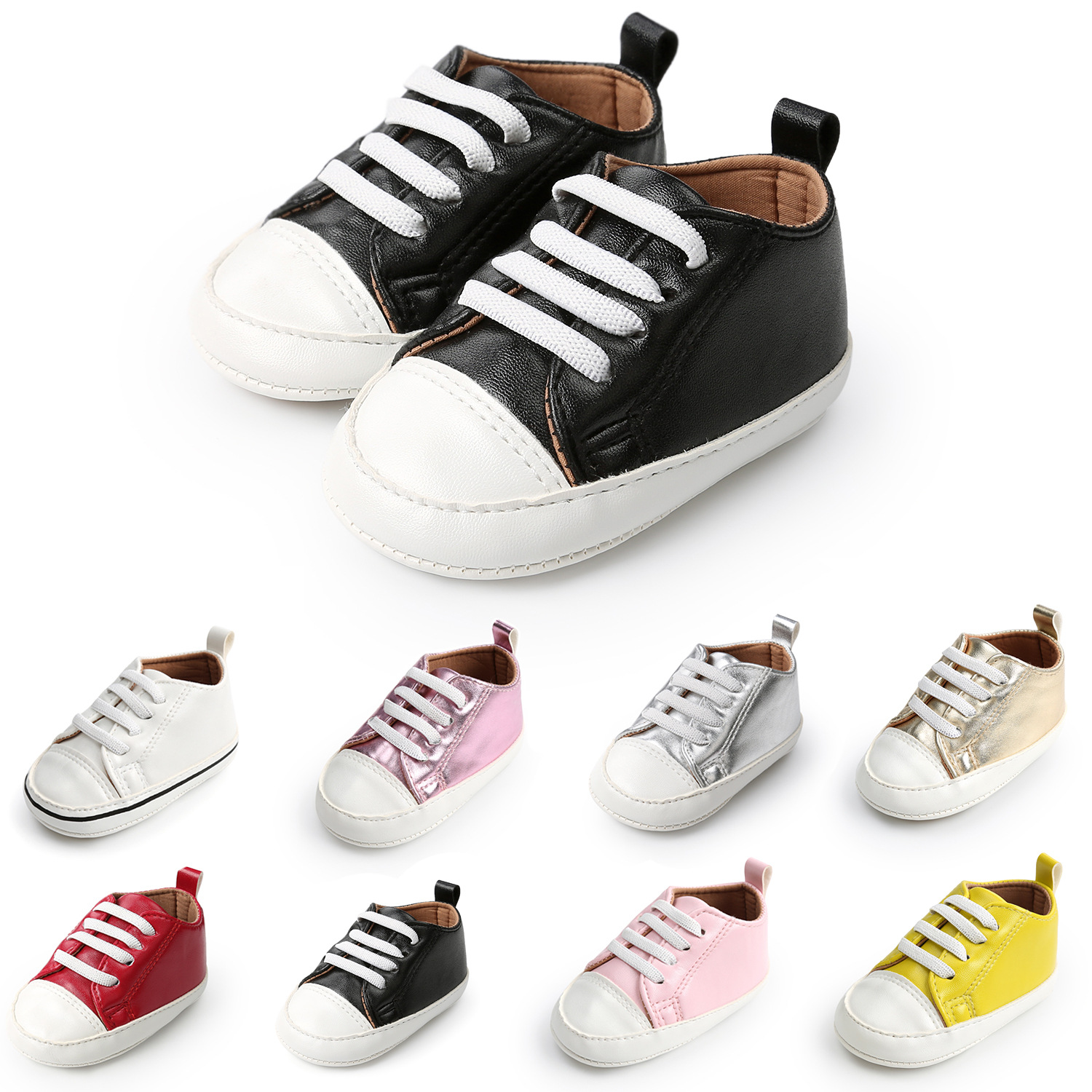 Infant Toddler Stylish Sneakers Baby Boy Girl kids Crib Shoes Newborn to 24month