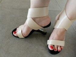 Gladiator Sandals Women Footwear Metal Strange Heel Sexy Shoes Woman High Heels Women Sandals HL54 MUYISEXI 5